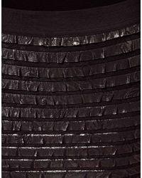 ASOS Black Asos Mini Skirt in Ruffles
