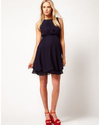 ASOS Blue Asos Maternity Dress with Double Layer