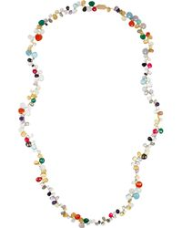 Rosantica - Metallic Gold-dipped Multistone Necklace - Lyst
