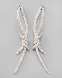 Stephen Webster   Metallic Diamond Barbed Wire Earrings   Lyst