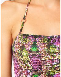Ted Baker Natural Ted Baker Skirted Swimsuit with Photo Floral Print