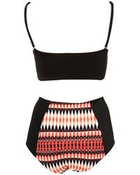 TOPSHOP Black Red Stained Glass Print Bikini
