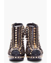 Alexander McQueen Black Studded Heels