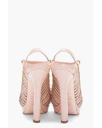 Alexander McQueen Pink Nude Studded Heels