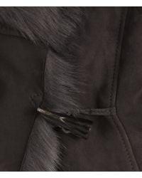 AllSaints Gray Pelt Gilet