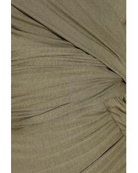 Donna Karan | Green Draped Stretch-jersey Dress | Lyst