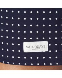 Saturdays NYC Blue Polka Dot Board Shorts for men