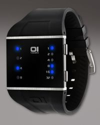 01 The One Watches | Black Slim Square Binary Watch for Men | Lyst