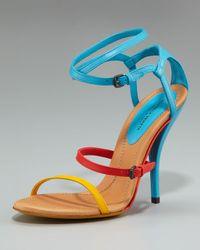 Bottega Veneta Blue Colorblock Strappy Sandal