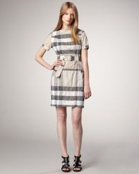 Burberry Brit Natural Belted Check Dress