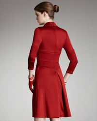 Chado Ralph Rucci | Red Zip-front Ponte Dress | Lyst