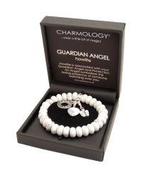 Charmology White Charmology Guardian Angel Bead Bracelet with 3