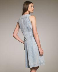 Chloé   Blue Button-waist Denim Dress   Lyst