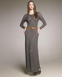 Chloé | Gray Open-knit Maxi Dress | Lyst