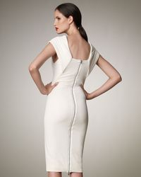Donna Karan | White Trapunto-stitch Dress | Lyst