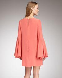 Elizabeth and James Pink Mabel Flutter-sleeve Dress
