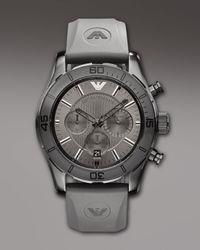 Emporio Armani | Sportivo Chronograph Watch, Gray for Men | Lyst