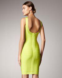 Hervé Léger Green Basic Bandage Dress, Bright Lime