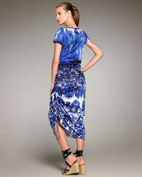 Jean Paul Gaultier - Blue Optic Floral-print Dress - Lyst