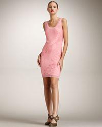 Jean Paul Gaultier | Pink Lace Tank Dress | Lyst