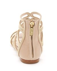 Kors by Michael Kors Natural Jersey Gladiator Sandal