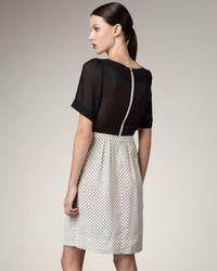 Marc By Marc Jacobs   Metallic Polka-dot Silk Dress   Lyst
