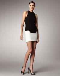 Mugler - Black Knit-top Combination Dress - Lyst