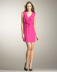 Rebecca Taylor - Pink Ruffle Dress - Lyst