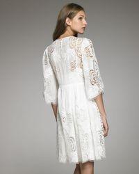 Stella McCartney - White Cutwork Dress - Lyst