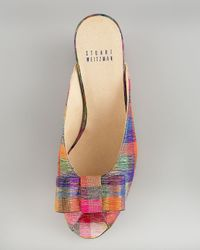 Stuart Weitzman Multicolor Tinsel Slip-on Mule