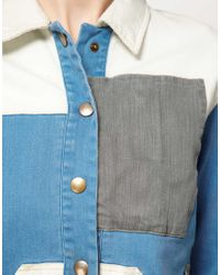 Surface To Air Blue Surface To Air Denim Patch Jacket