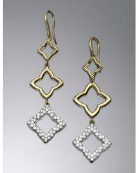 David Yurman   Metallic Quatrefoil Earrings   Lyst