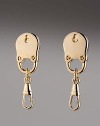 Eddie Borgo | Metallic Padlock Stud Earrings | Lyst