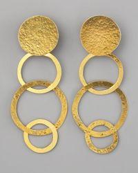 Herve Van Der Straeten | Metallic Disc & Open Circle Clip Earrings | Lyst