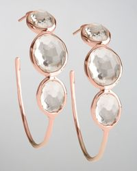 Ippolita | Multicolor Rose Clear Quartz Hoop Earrings | Lyst
