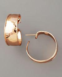 Ippolita - Pink Goddess Hoop Earrings, Rose Gold - Lyst
