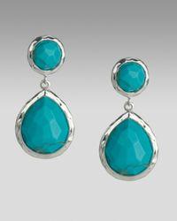 Ippolita | Blue Turquoise Snowman Earrings | Lyst