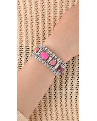Juicy Couture - Metallic Multi Layer Gem Bracelet - Lyst