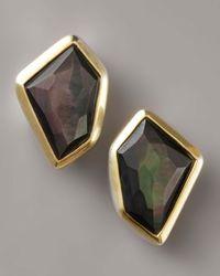 Kara Ross Mother-of-pearl Earrings, Black