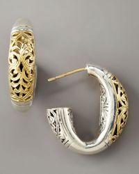 Konstantino | Metallic Silver & Gold Daphne Hoop Earrings | Lyst