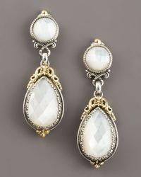 Konstantino Metallic Mother-of-pearl Dangle Earrings