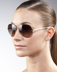Marc By Marc Jacobs | Brown Aviator Sunglasses | Lyst