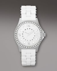 Marc By Marc Jacobs | Metallic Pelly Glitz Bezel Watch | Lyst