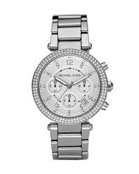 Michael Kors | Metallic Parker Glitz Watch | Lyst