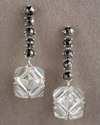 Paolo Costagli | Multicolor Black Diamond & White Topaz Earrings | Lyst
