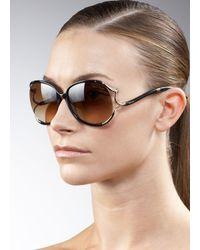 Roberto Cavalli | Black Curvy Snake-temple Sunglasses | Lyst