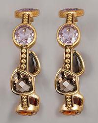 Stephen Dweck - Metallic Multi-stone Hoop Earrings - Lyst