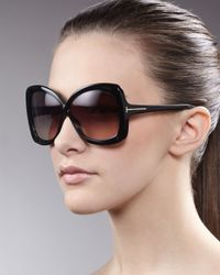 Tom Ford | Calgary Plastic Butterfly Sunglasses/black | Lyst