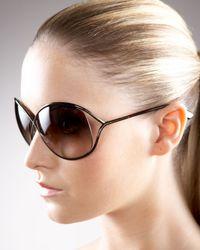 Tom Ford | Metallic Miranda Sunglasses Bronze | Lyst