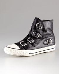 Ash | Black Leather Hi-top Sneaker | Lyst